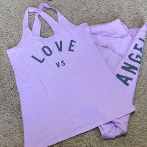 Victoria's Secret tank/pant sleep set